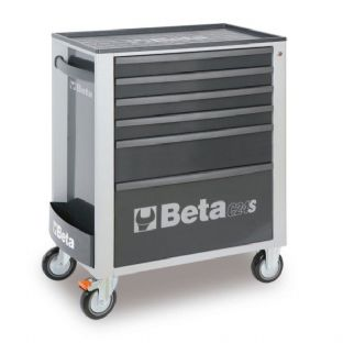 Beta C24S/6-G Mobile Roller Cab With 6 Drawers (Grey)